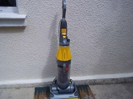 DYSON DC07 ROOT CYCLONE UPRIGHT BAGLESS VACUUM WITH NEW PRE-MOTOR FILTER, THOROUGHLY CLEANED