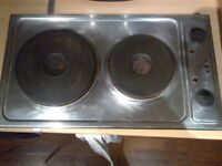 two hotplates fitted electric hob in good condition