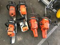 Various chainsaws , spares and repairs