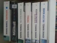 6 Henning Mankell paperbacks