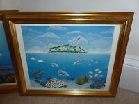Fish Prints in Gilt Frames