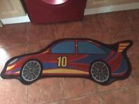 Boys car shape rug