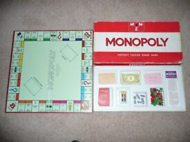 Vintage 1970 Monopoly Board Game