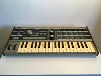 Korg MicroKORG Synthesizer With Custom Mahogany Side Panels