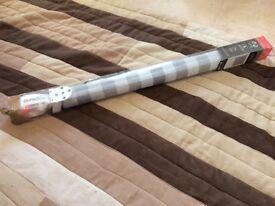 Silver grey striped blackout roller blind