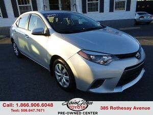 2015 Toyota Corolla LE with Backup Cam+Heated Seats $126.43 BI W