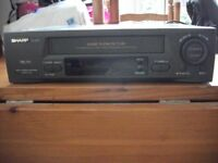 Sharp VHS player/recorder