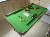 Omega Debut 4ft Snooker/Pool Table (Fully Folding plus Accessories)