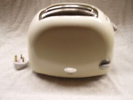 BREVILLE ELECTRIC, TWO SLICE OF BREAD TOASTER, HAS BREAD DEFROST BUTTON, WHITE.