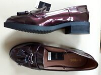 NEXT BNWT Ladies Patent Loafers Size 5
