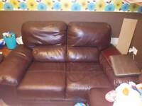 SELL OR SWAP 2x 2 seater sofas and footstall