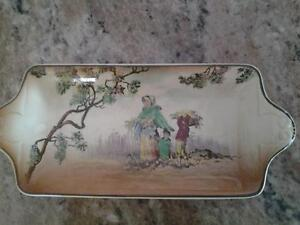 Old English Scenes The Gleaners rectangle plate