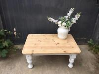 Shabby chic chunky pine coffee table