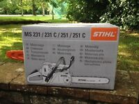 Chainsaw STIHL MS 231 - Brand New Boxed