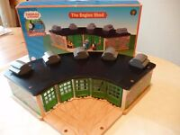 Wooden Toy Engine Shed