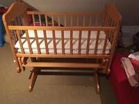 Baby Crib with mattress in very good condition.