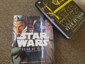 Star Wars Year by Year Hardback Book with 2 collectable prints.