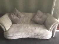 2 seater crushed velvet sofa from DFS