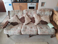 A Conservatory style Three seater and Chair