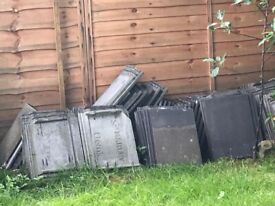Free Roof tiles - approx 150 - take as many as you like