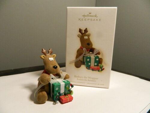 Hallmark 2009 Keepsake Christmas Ornament Rodney The Wrapper Rodney The Reindeer