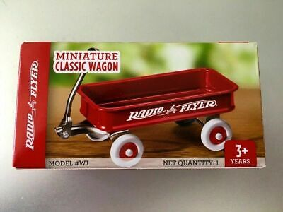Vintage Miniature Classic Wagon Radio Flyer W1 Desk Top Business Card Holder New
