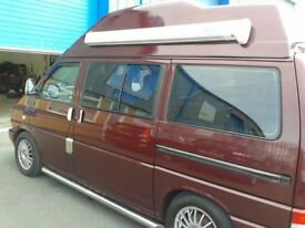 VW camper van, T4, 1996, Caravelle, high top, Auto, Red