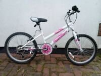 GIRLS BIKE, 18 INCH WHEELS