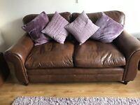 Laura Ashley Southfield Leather Sofa