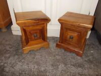 MATCHING INDIAN HARDWOOD MINI DRAWS VERY NICE ITEMS IN VERY GOOD USED CONDITION 07486933766
