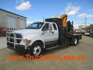 2011 Ford F-750 XLT, PICKER + SERVICE DECK!!!
