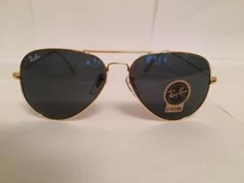 RayBan Aviator Sunglasses RB3025 (gold/dark grey lens)