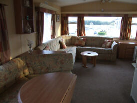 Two bedroom static available now to rent at Cayton Bay - rates from £150/wknd £300/wk