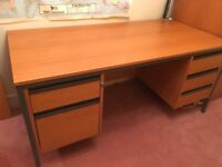 Large office desk with lockable drawers from Viking Direct