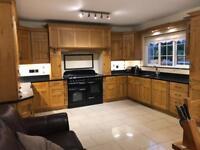 Solid oak kitchen with granite worktop