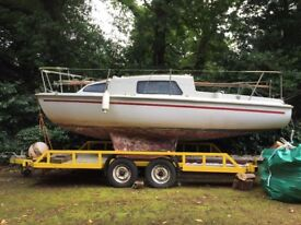 Seawych boat and trailer 20ft