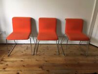 Tab by Alain Berteau for Bulo Designer Stacking Chairs x 3 * Bargain
