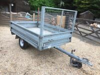 Towing trailer 5x4 with dropsides