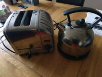 2 slice Dualit toaster and matching kettle