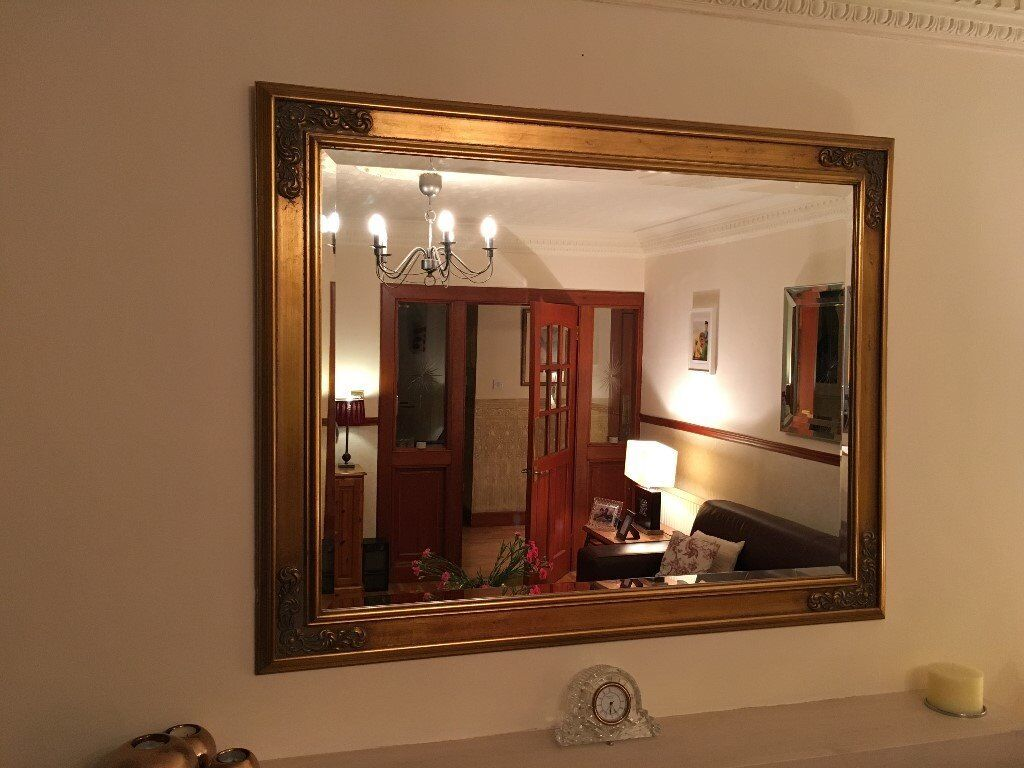 Large Gold Frame Mirror