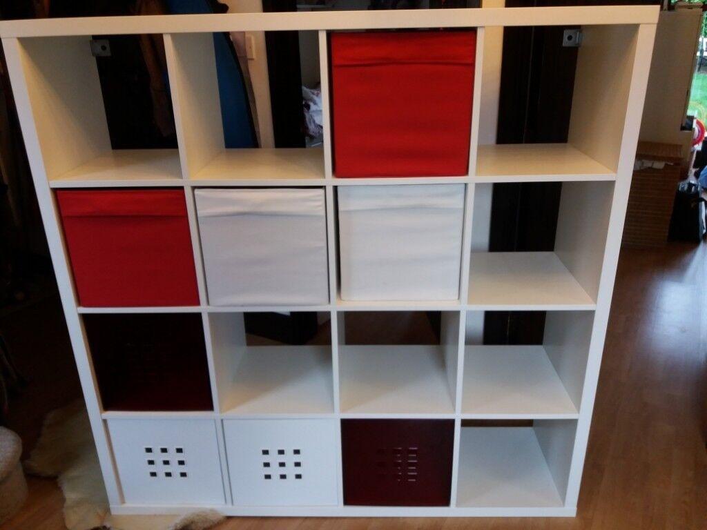 separation shoes 631a3 5c86b IKEA - KALLAX Shelving unit 147 x 147 cm x 40cm (deep) with 8 storage boxes  | in Swindon, Wiltshire | Gumtree