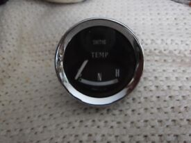 vintage morris mini car temp gauge