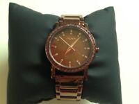 Dark rose gold DKNY watch