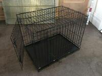 "Metal Dog Cage with Metal Tray (30"" Medium)"