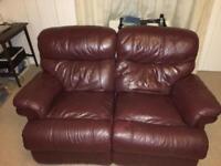 Sofa recliner 2 seater leather sofa