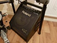 Roland PM-30 200w Drum Keyboard Amp & Speakers - Delivery to Hull, Leeds, Sheffield & Manchester