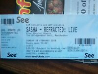 SASHA REFRACTED LIVE TICKETS MANCHESTER FEB 18th 2018