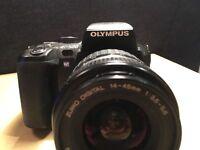 Used OLYMPUS EVOLT E-500 DIGITAL SLR CAMERA Bundle: Lenses+Batteries+BAG+tripod