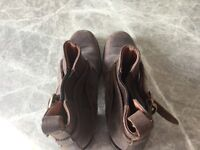 Brown Russell & Bromley ankle boots