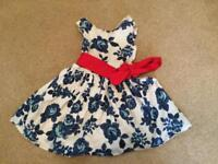 Joules 3 years rose dress Constance Blurose